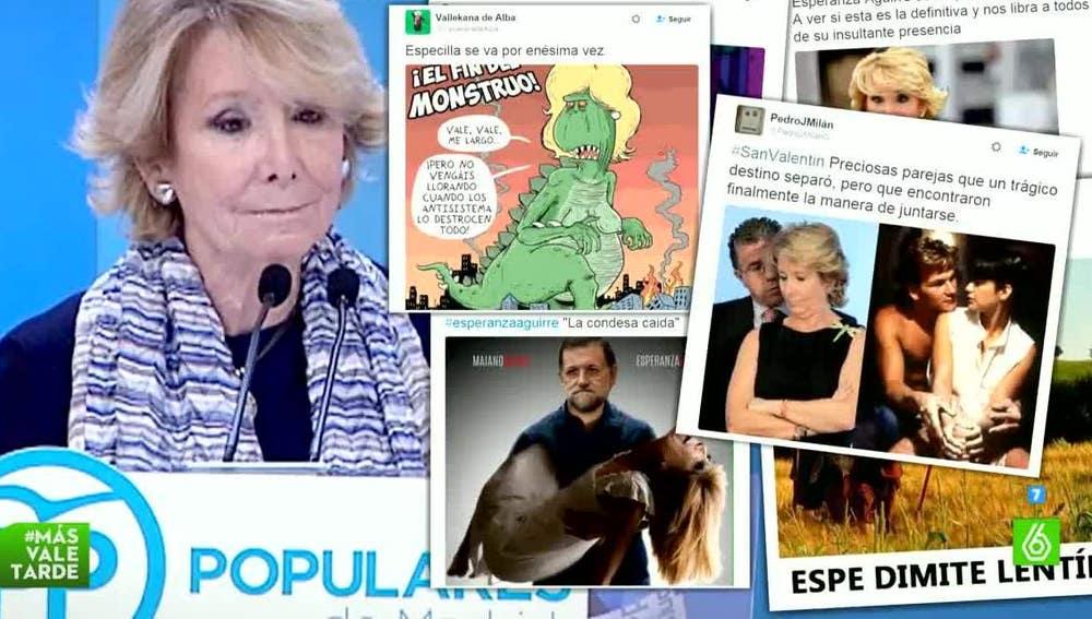Esperanza Aguirre copa las redes sociales