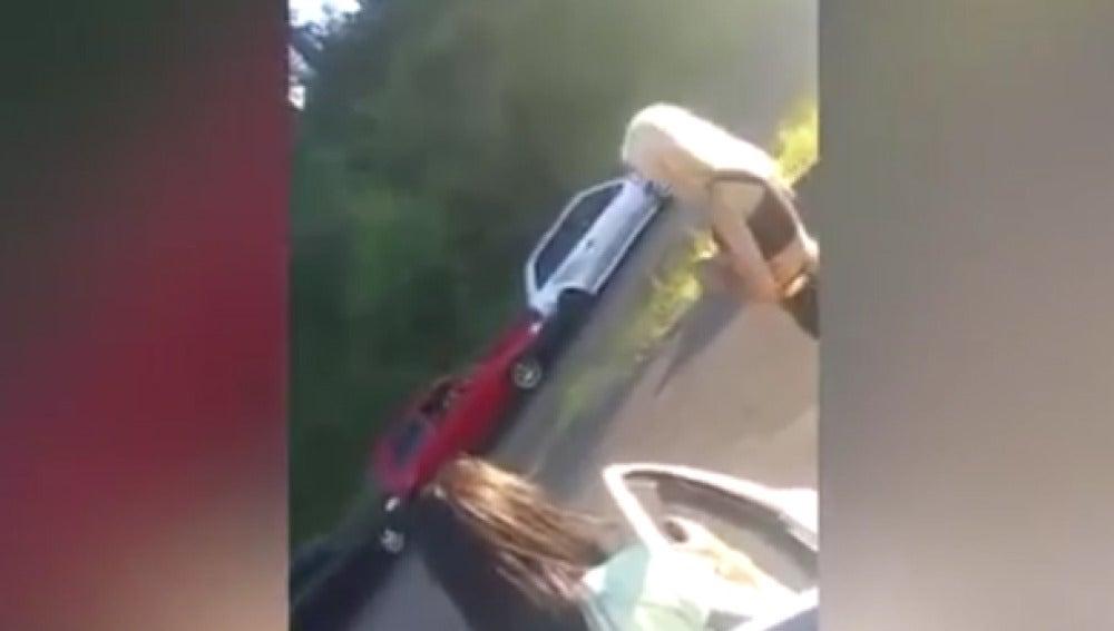 Choque en cadena en una carretera de EEUU