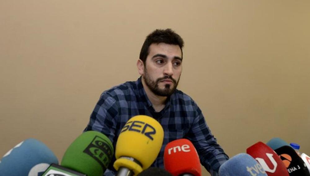 Breogán Riobóo durante una rueda de prensa
