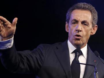 El líder del partido conservador Los Republicanos, Nicolás Sarkozy.