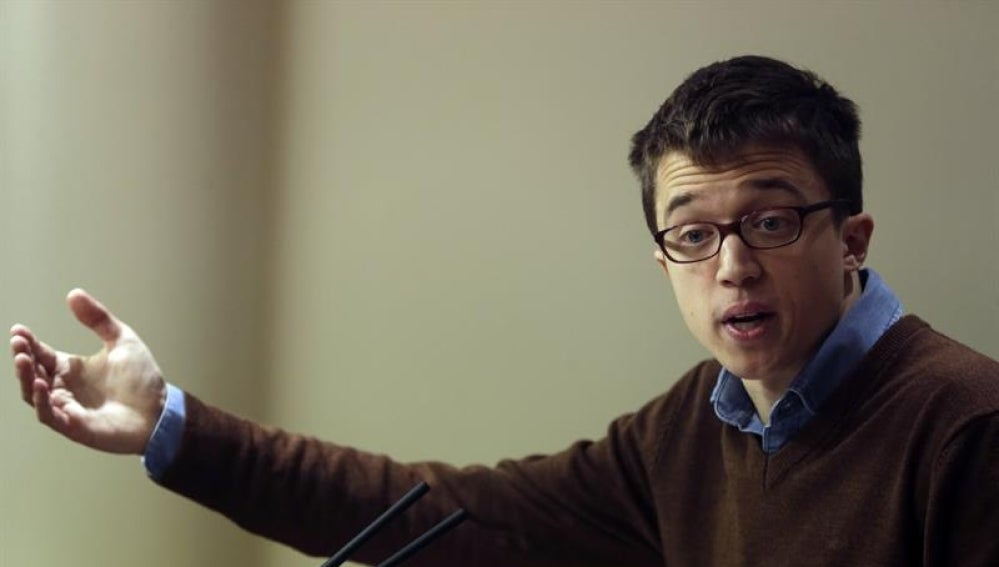 El portavoz de Podemos en el Congreso, Íñigo Errejón