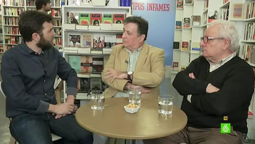 Gonzo entrevista en El Intermedio a los escritores Luis Landero y Javier Reverte