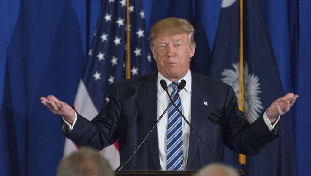 Donald Trump contestando a las declaraciones del Papa Francisco