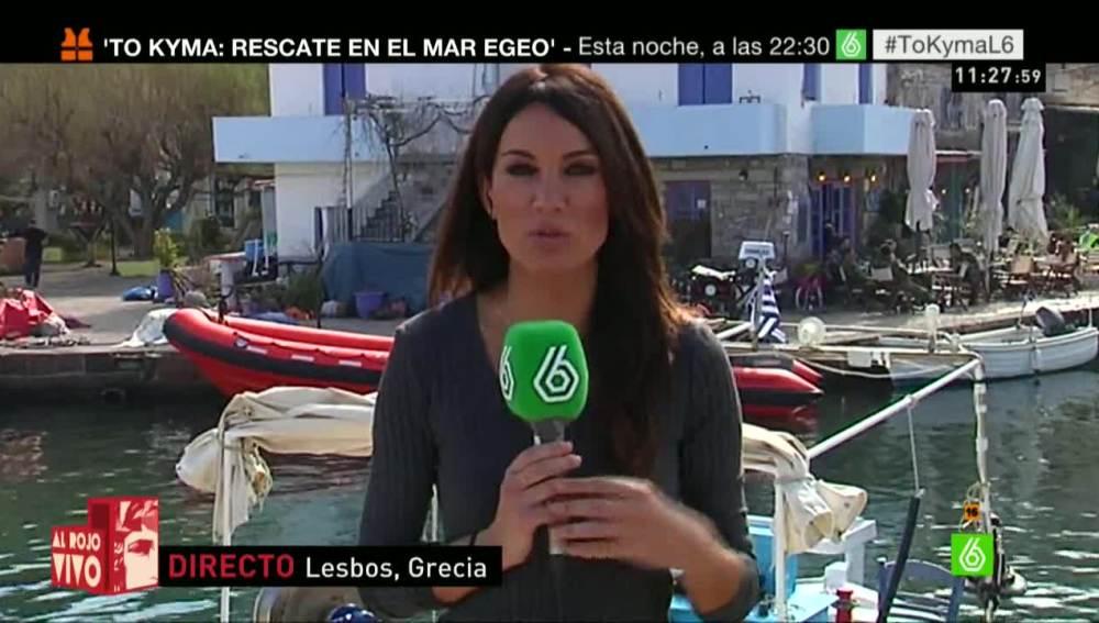 Saavedra en Lesbos