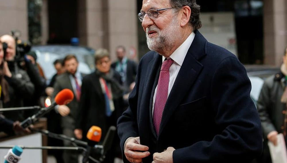 El Presidente en funciones, Mariano Rajoy en Bruselas