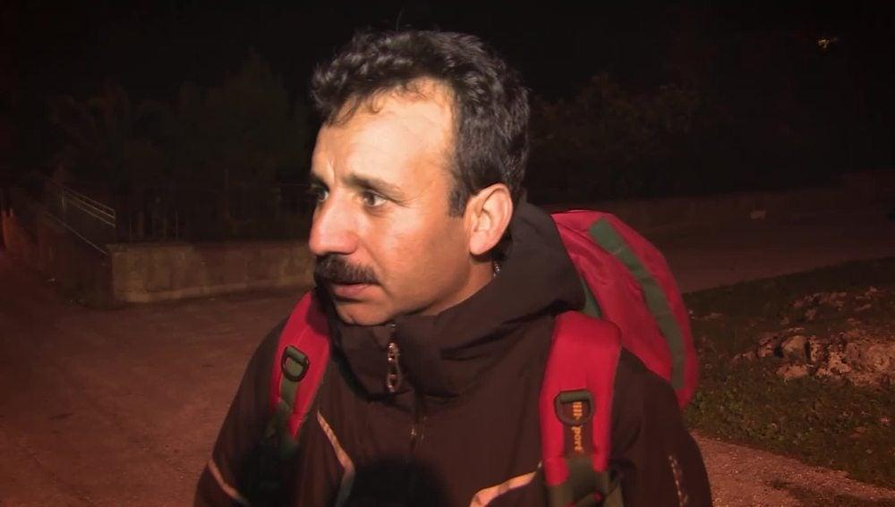 Un refugiado recién llegado a Lesbos