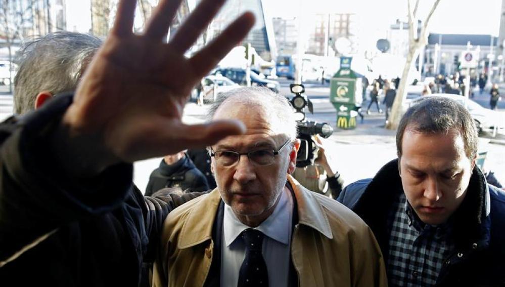 Rodrigo Rato a su llegada a los juzgados de Plaza de Castilla