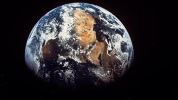 Vista del planeta Tierra desde el espacio