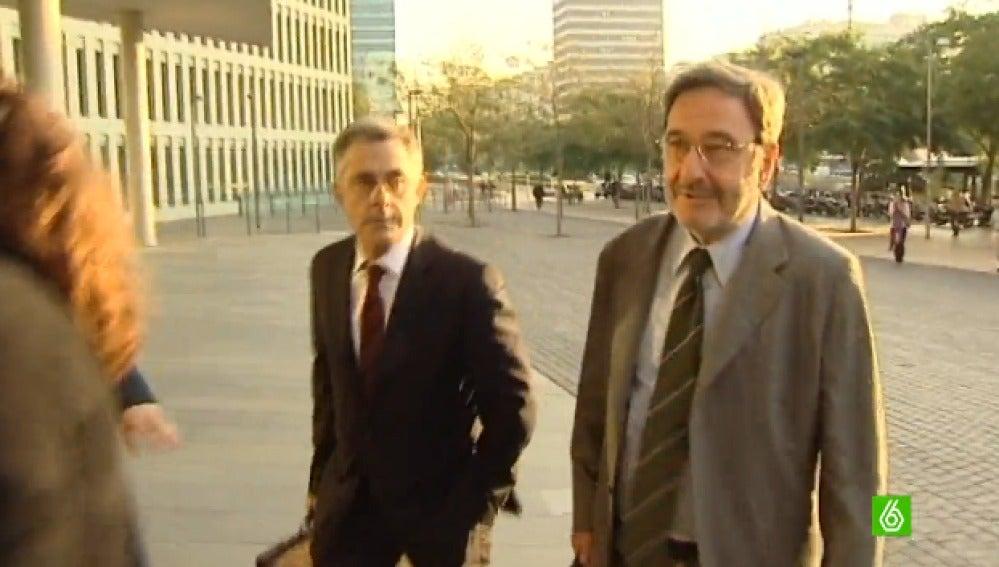 Narcís Serra a la entrada de los juzgados