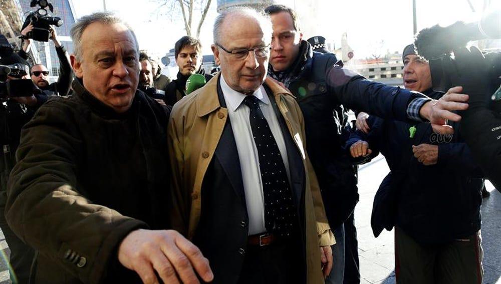 Rodrigo Rato, a su llegada al juzgado de Plaza de Castilla