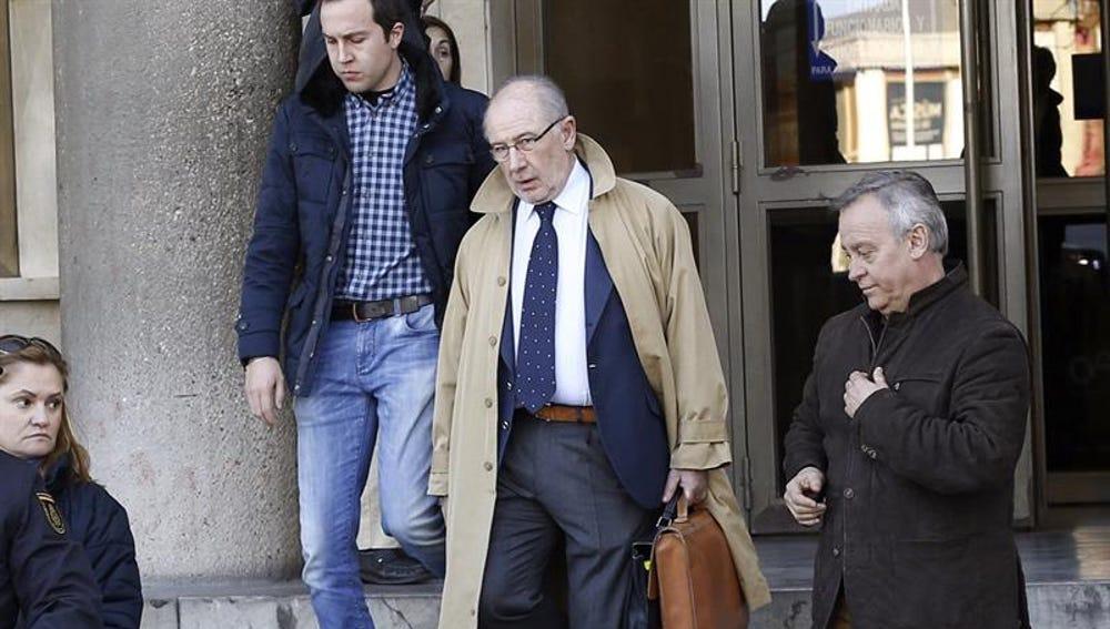 Rodrigo Rato saliendo de los juzgados de Plaza de Castilla