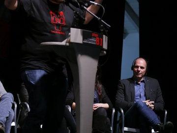 Miguel Urbán y Yanis Varufakis, en la cumbre del 'Plan B'