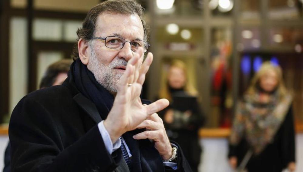 Rajoy, a su llegada a la segunda jornada de la cumbre europea