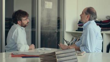 César Laborda, el gerente de Iberasia y Jordi Évole