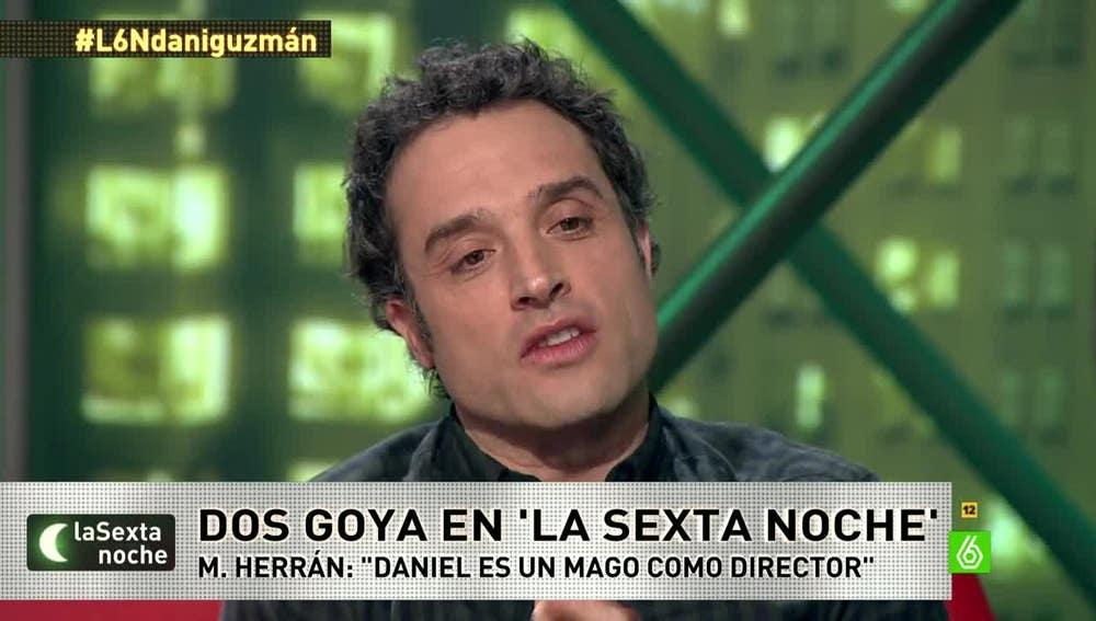 El actor y director Daniel Guzmán, en laSexta Noche