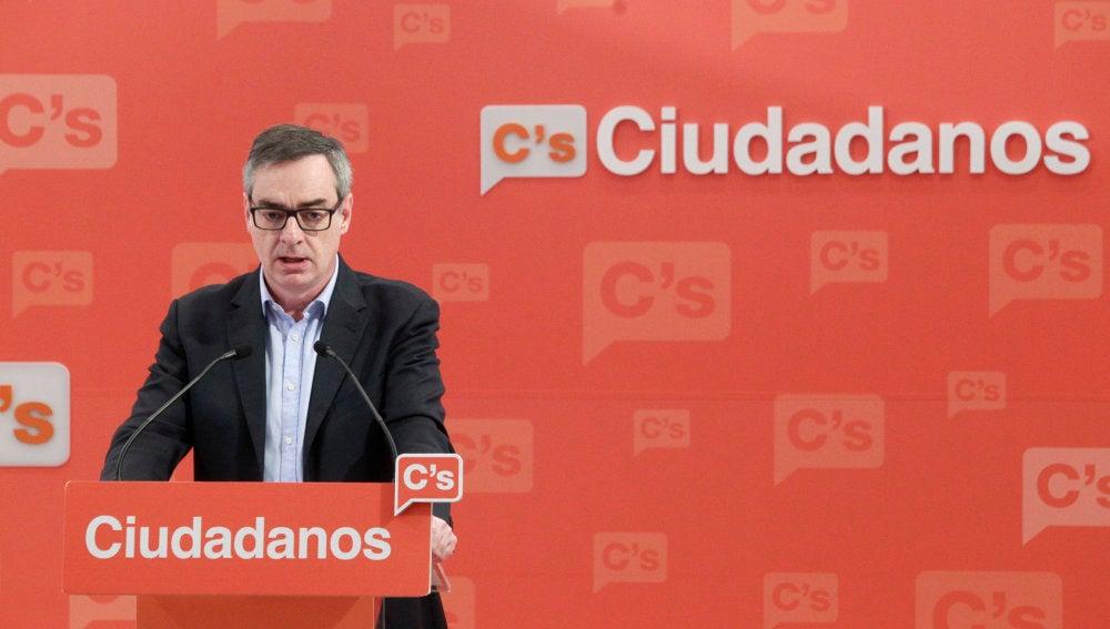 El vicesecretario general de Ciudadanos, José Manuel Villegas