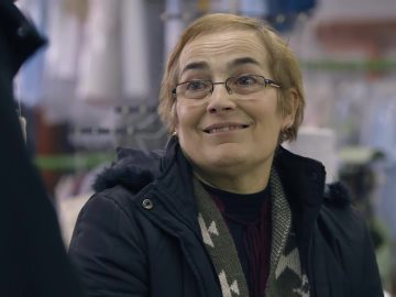 María Graña, expropietaria de un taller textil