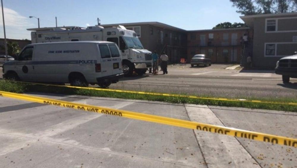 Un tiroteo en una zona de apartamentos