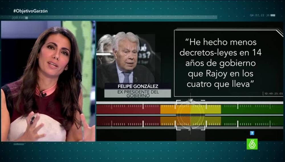Prueba de verificación a Felipe González
