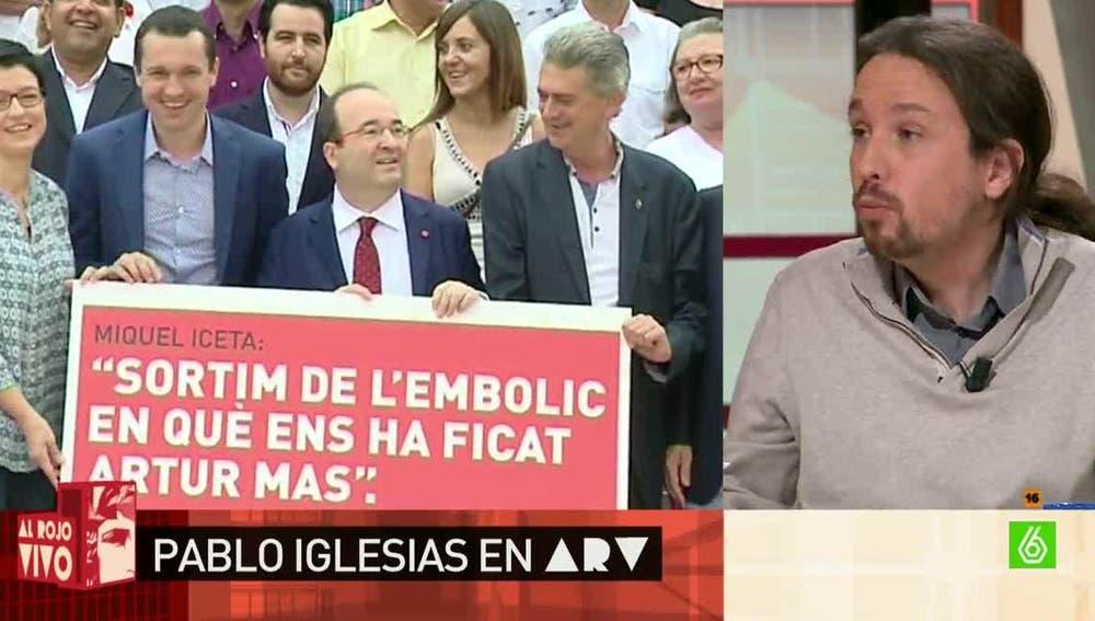 Pablo Iglesias, sobre el referéndum en Cataluña