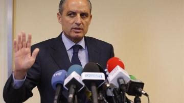 Francisco Camps en declaraciones a los periodistas