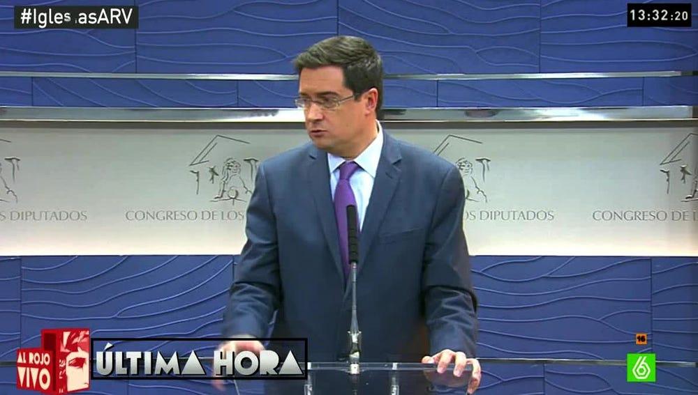 Óscar López en el Congreso