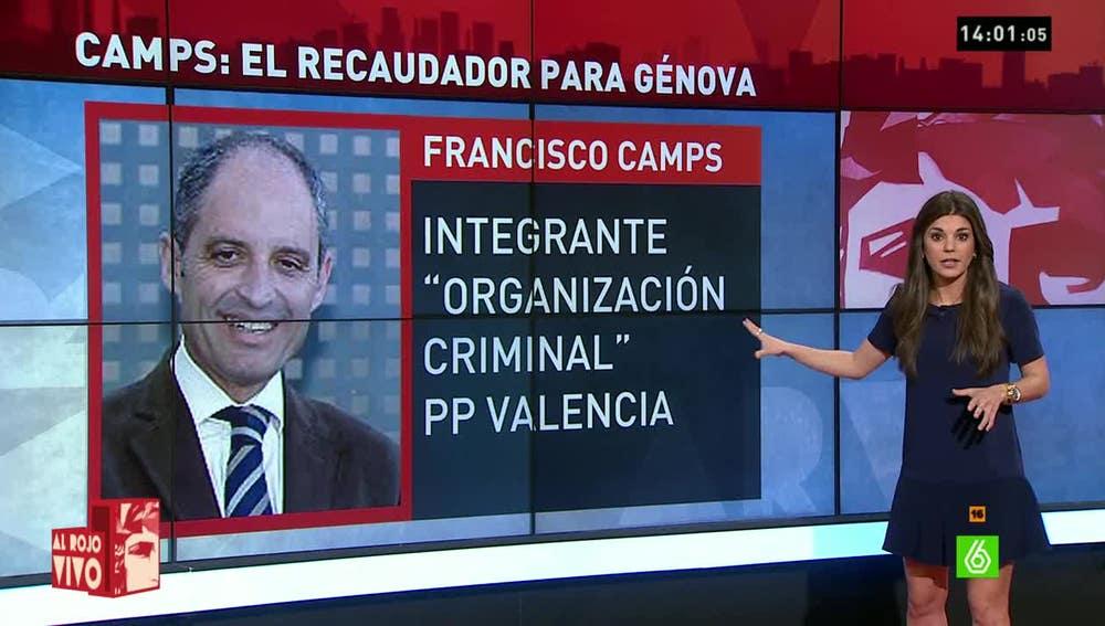 Francisco Camps habría sido el recaudador del dinero en B del PP de Valencia