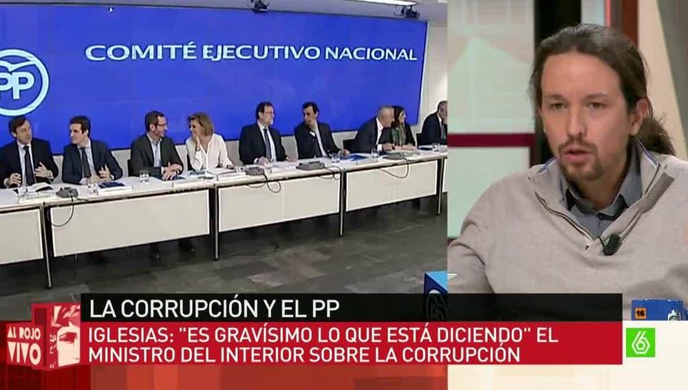 Pablo Iglesias, sobre la corrupción en España