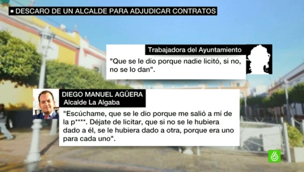 Las conversaciones del alcalde de La Algaba que destapan contratos a dedo