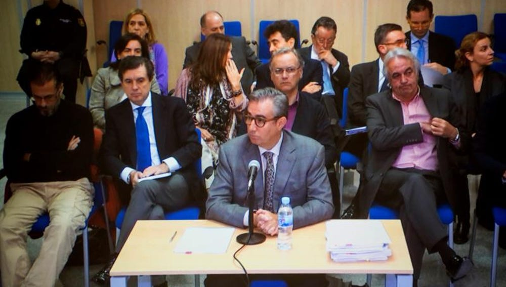 Diego Torres, durante una jornada del juicio del caso Nóos