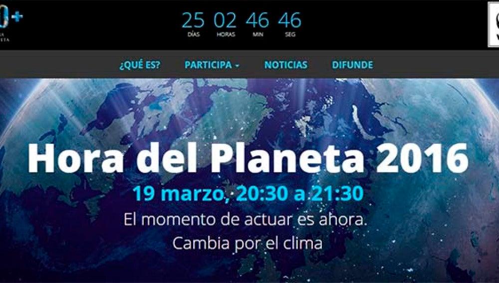 Convocatoria de la décima edición de la Hora del Planeta