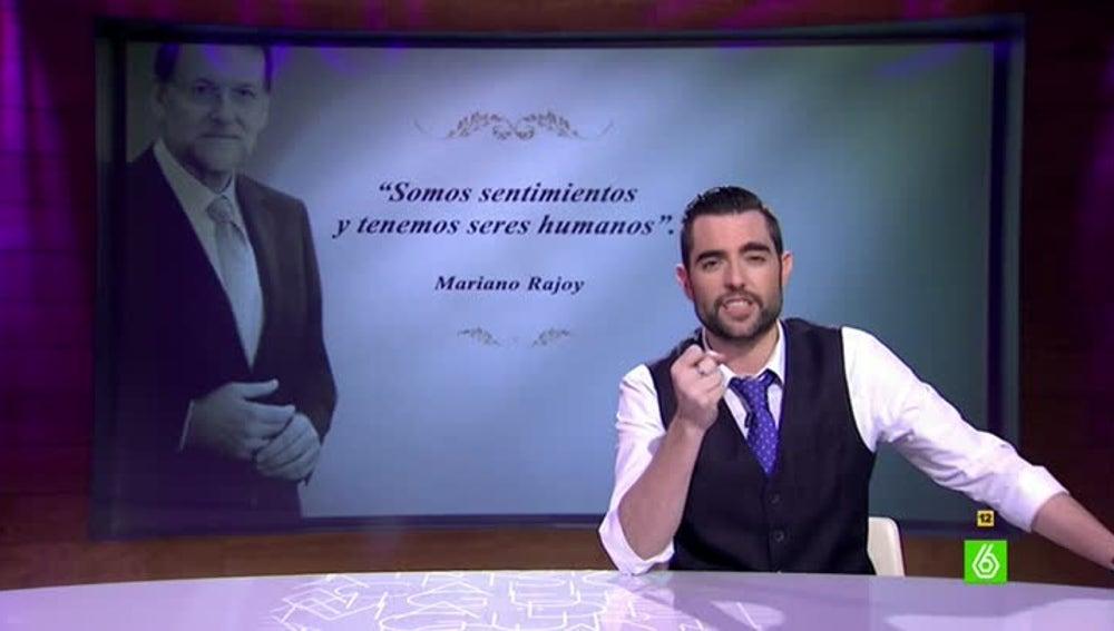 Dani Mateo completa el poema de Mariano Rajoy