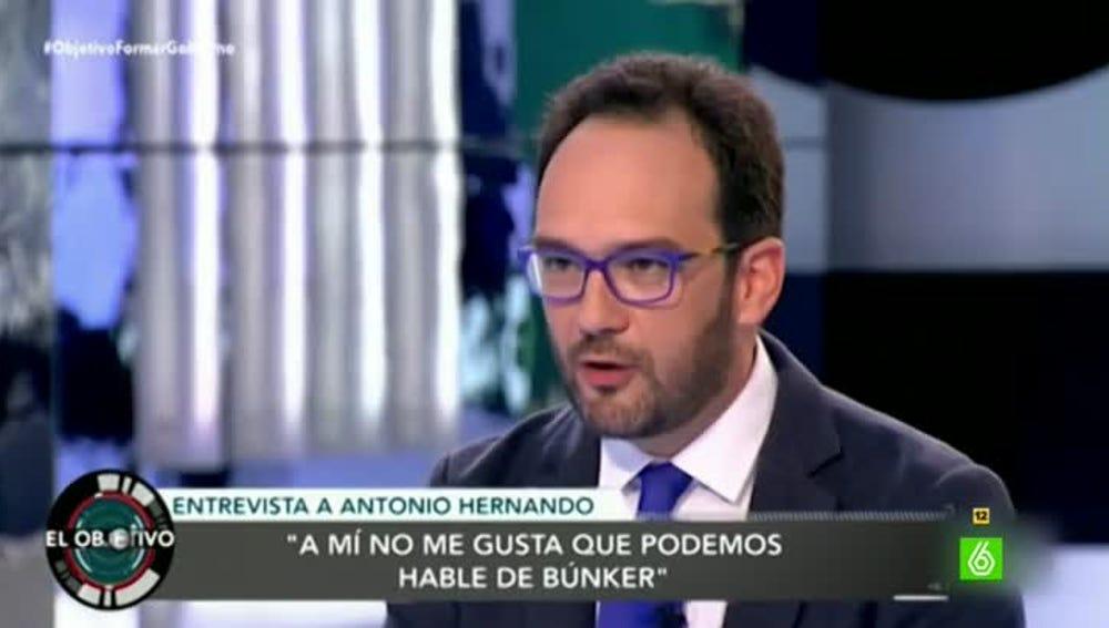 El portavoz del grupo socialista del Congreso, Antonio Hernando
