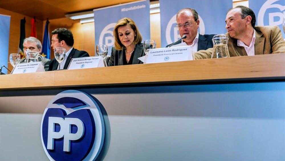 Cospedal en la junta directiva del PP extremeño