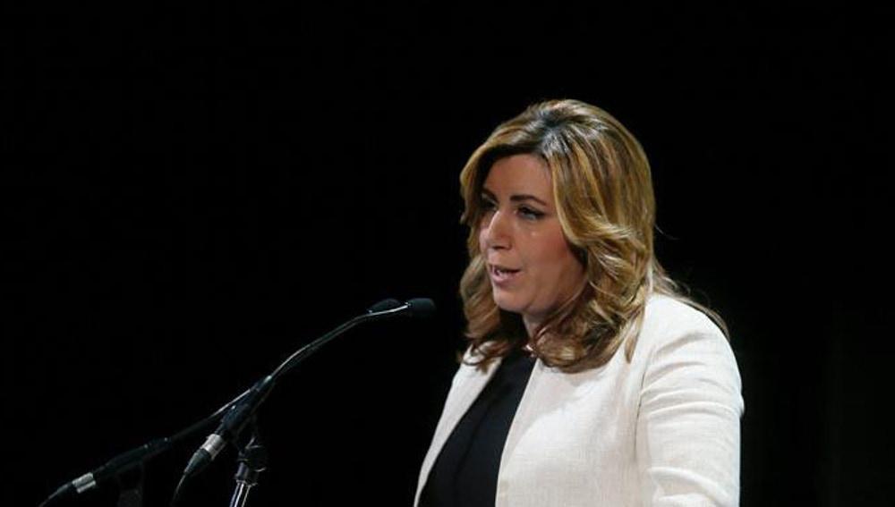 Susana Díaz, durante un acto del PSOE
