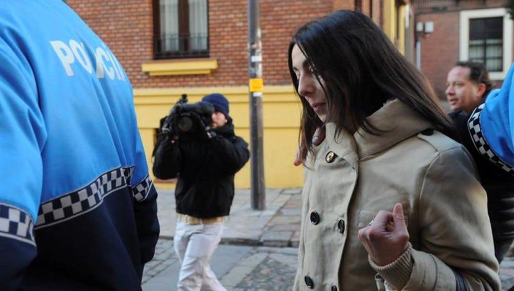 La policía local Raquel Gago, una de las tres acusadas por el crimen de la presidenta de la Diputación de León,
