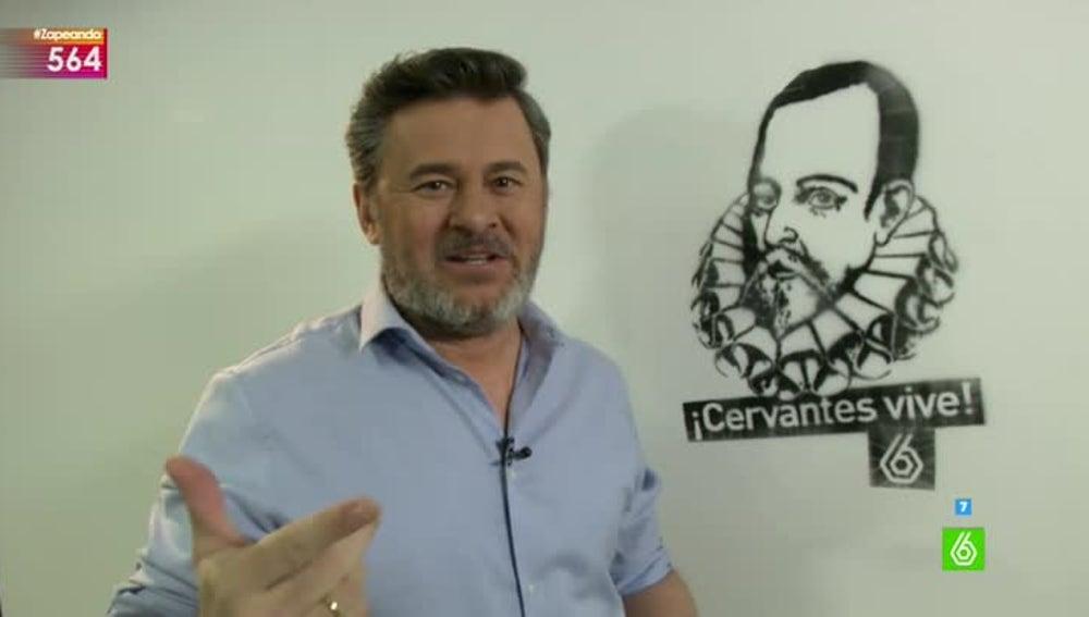 Zapeando celebra el 400 aniversario de la muerte de Cervantes con un grafiti en la redacción