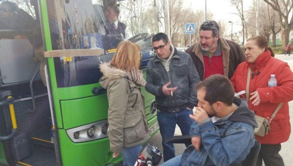 'El langui' bloquea un autobús en San Martín de la Vega
