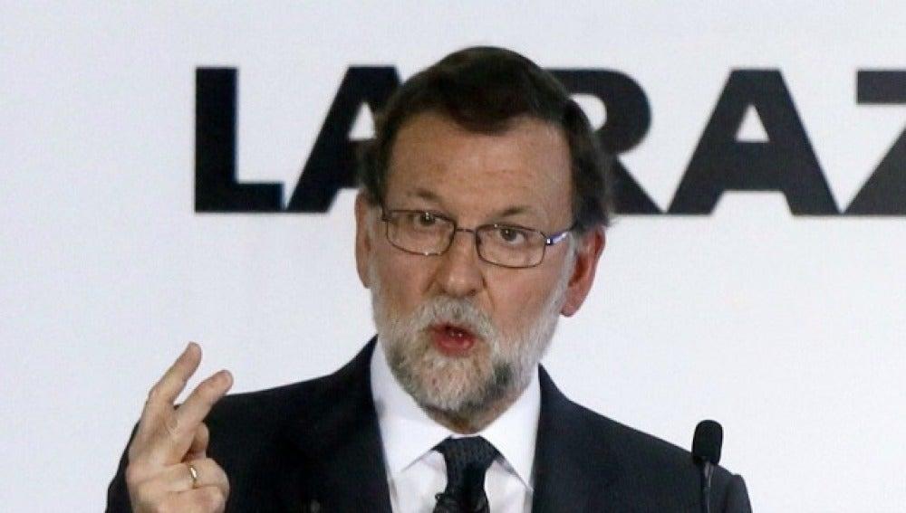 Rajoy, en un acto de La Razón