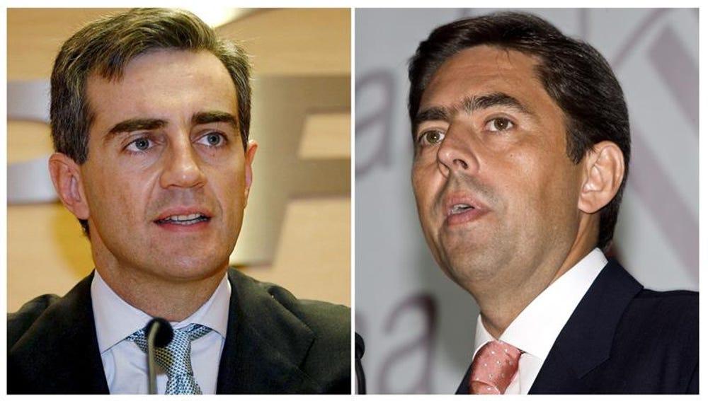 El exsecretario regional del PP Ricardo Costa (i) y el exvicepresidente del Consell Vicente Rambla