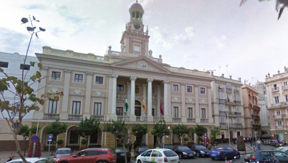 Fachada del ayuntamiento de Cádiz