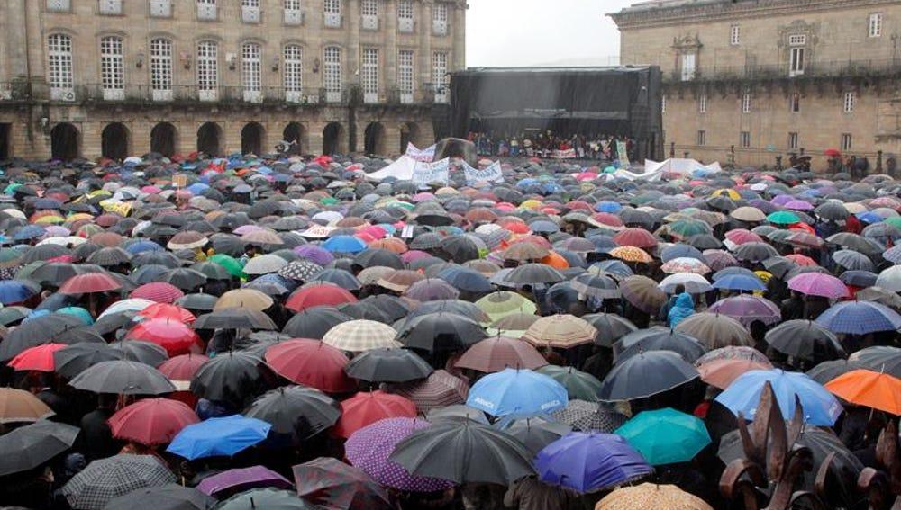 Cerca de 30.000 marineros gallegos se manifiestan en Santiago de Compostela