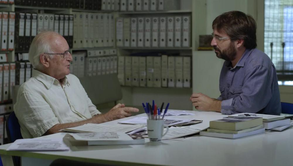 Jordi Évole y Francisco Puche, ingeniero experto en amianto