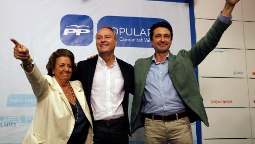 Vicente Betoret junto a cargos del PP Valenciano