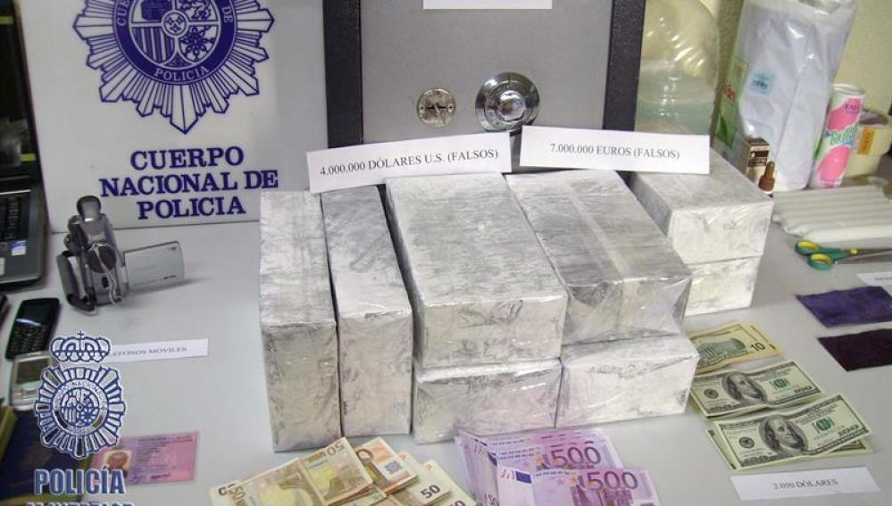 Detenidos al intentar estafar 50.000 euros con billetes tintados en Barcelona