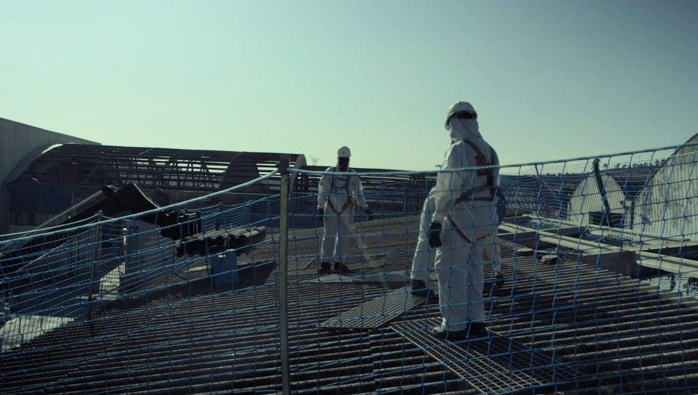 Trabajadores en contacto con amianto