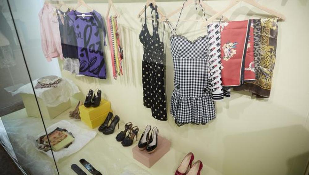 Parte de la ropa de Amy Winehouse que se ve en la exposición