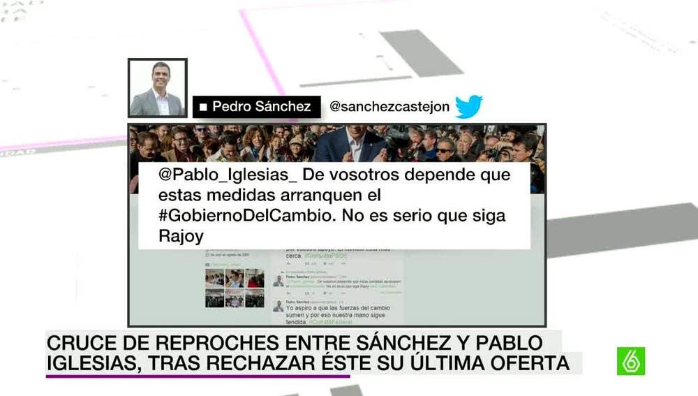 Respuesta de Pedro Sánchez a Iglesias