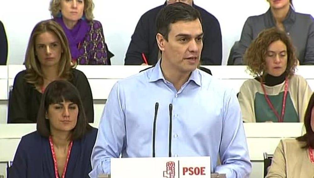 Pedro Sánchez en la Ejecutiva del PSOE