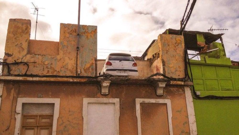 Imagen del vehículo en la azotea